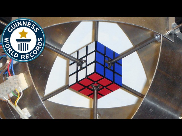 Fastest robot to solve a Rubik's Cube Guinness World Records