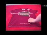Как сложить футболку за 2 е секунды