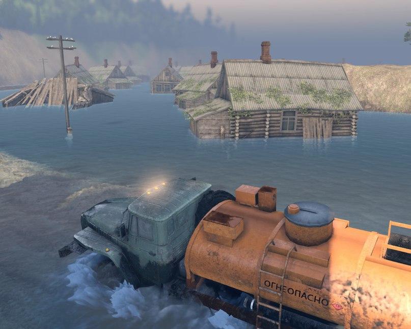 """Карта """"Разлив"""" v 1.4 Для Версии Игры 13.04.15 для Spintires - Скриншот 2"""