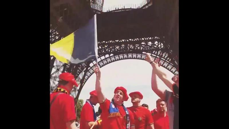 Belgian Red Devils fans in France TousEnsemble
