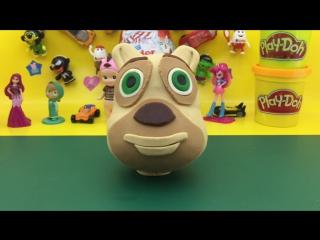 Медведи Буни из play-doh, Boonie Bears play-doh, Видео для детей.
