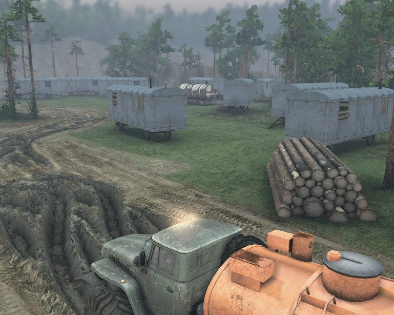 """Карта """"Разлив"""" v 1.4 Для Версии Игры 13.04.15 для Spintires - Скриншот 1"""