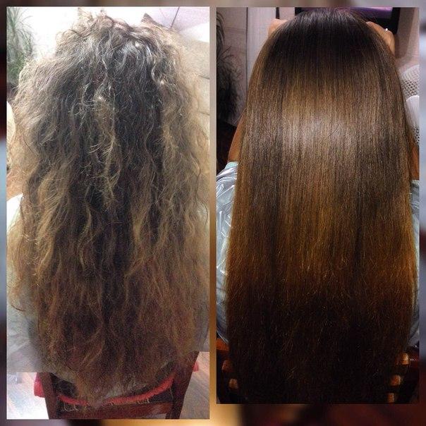 кератиновое восстановление волос скидки