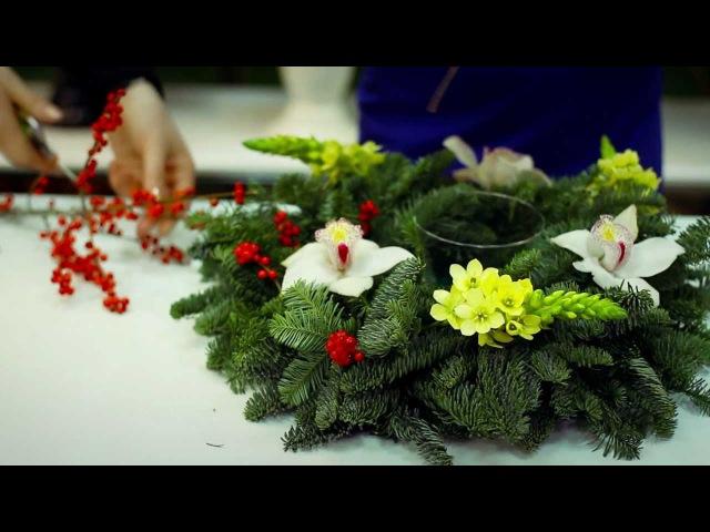 Салон цветов Дамское Счастье. Новогодняя композиция.