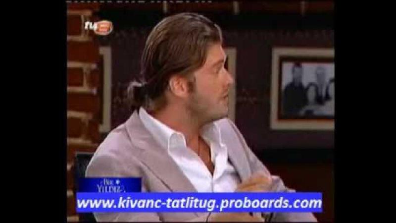 Kivanc Tatlitug with Selcuk Yontem in Bir Yildiz Masali Program