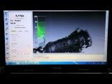 Artec Eva 3D scanner - scanning a car transmission