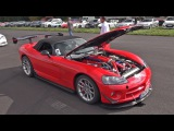 1256HP Twin Turbo Dodge Viper SRT10 - Revs &amp Acceleration!