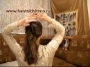 Прическа 4 со шпильками для волос, с палочками. Ребро.