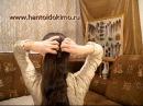 Прическа 3 со шпильками для волос, с палочками. Бабушкин пучок