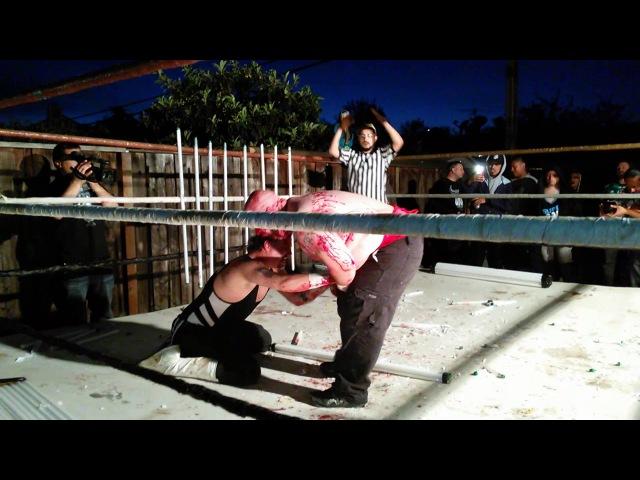 Bull Bronson (c) vs. Ref Guido [UGWA Beast of the East Title, Panes of Glass, 100 Lighttubes Death Match]