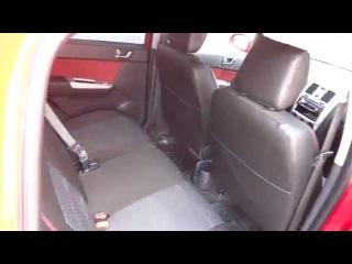Качественные авточехлы на сиденья Hyndai Getz, красная нить