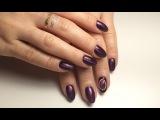 Дизайн ногтей магнитным гель лаком, камень, стразы