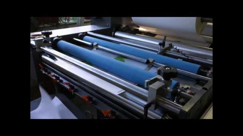 Ламинирование отпечатанных листов на Autobond Mini 76 TH в типографии EGF (Еврографика)