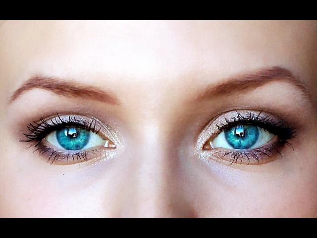 Уроки макияжа. Дневной макияж глаз. Как правильно красить глаза