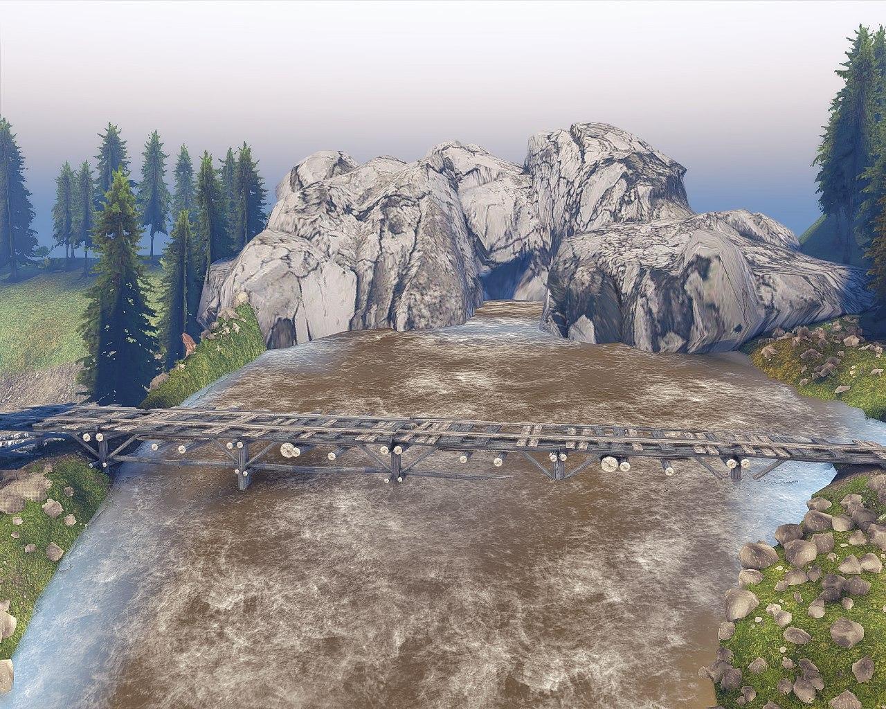 """Карта """"Пересечение"""" (13.04.15.) для Spintires - Скриншот 2"""