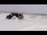 Паджеро по снегу