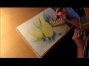 Aquarell gelbe Tulpen Tutorial Teil 1
