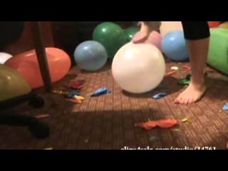 bare feet vs balloons