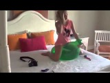 Russian teen girls balloon games