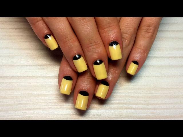 Дизайн ногтей гель-лак shellac - Лунный маникюр, маникюр Dior (видео уроки дизайна ногт...