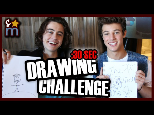 30 Second Drawing Challenge w/ Nash Grier, Cameron Dallas THE OUTFIELD Cast