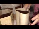 Изготовление картонной формы для плетения из газет. Часть 2.