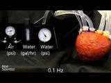 Foam heart powered by air can pump liquid