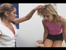 Patient girl dominated by nurse