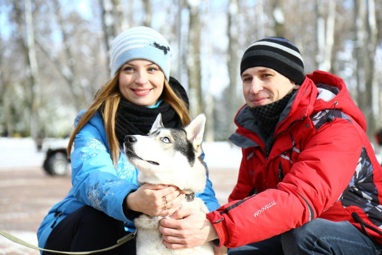 В парке культуры и отдыха прошла благотворительная фотосессия с собаками породы хаски