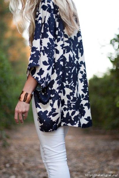 Шьём блузу кимоно