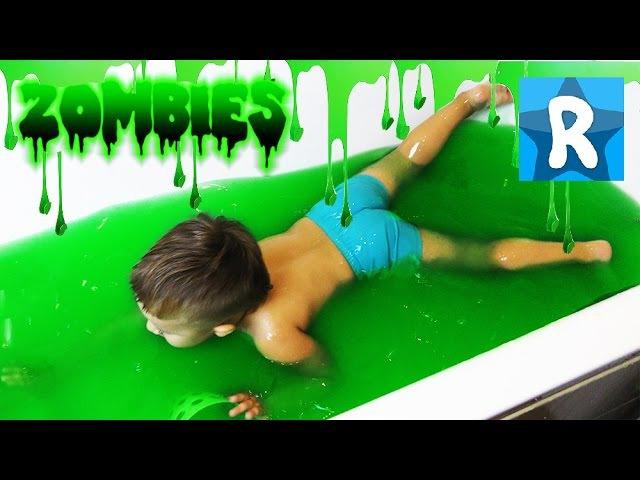 ★ Ванная Лизун SLIME BAFF Купаемся в СЛИЗИ Ищем сюрпризы Зомби Squishy Slime Baff Toy Challenge