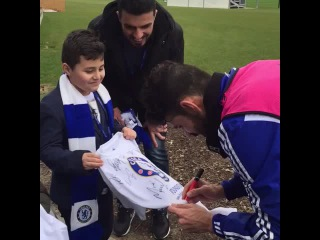 Diego Costa meeting young fans at our Community Day...