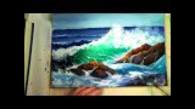 Part 2: How to Paint a Translucent Ocean Wave on the Rocks- Ginger Cook's Master Class Painting
