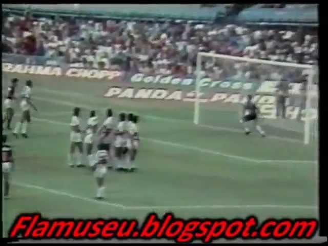 Flamengo 3x1 Santa Cruz - 1987 - 3º Gol de Zico (Falta)