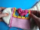 Вязаные тапочки Как вязать крючком тапки Howto crochet sneakers(by tyvacom)