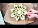 Пирог из слоеного теста Снежинка