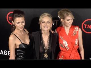 Sharon Stone, Olga Fonda, Carolyn Stotesbery // Agent X Red Carpet Premiere ARRIVALS