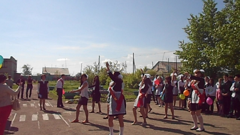 танец 11 и 9 класса на последний звонок 2015