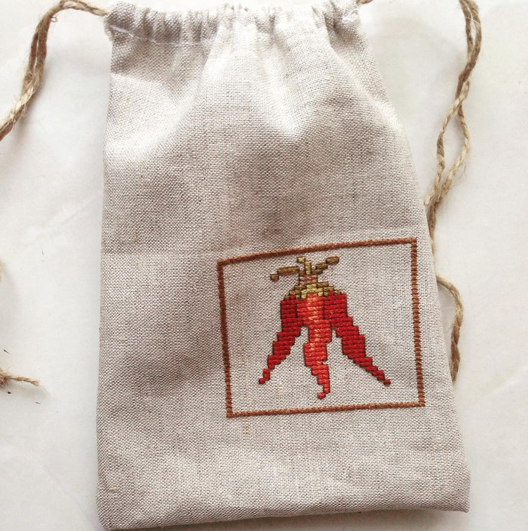 Шьем простой мешочек для трав или сухофруктов Ярмарка