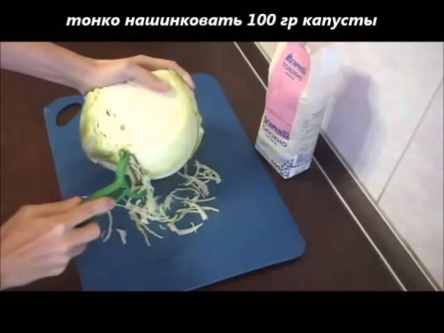 Оладьи из толокна и капусты.