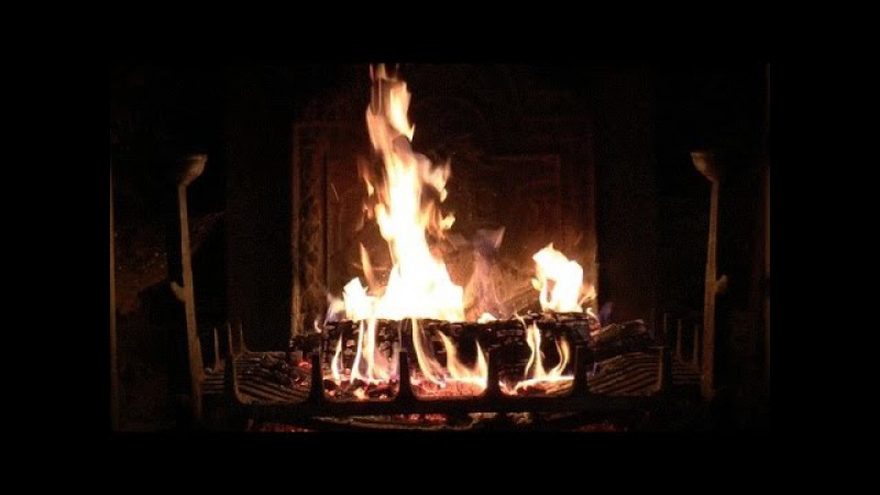 Virtual Fireplace: Beautiful Old Fireplace with Loud Crackling Fire Sounds (HD) no loop!