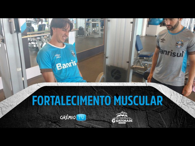 [PRÉ-TEMPORADA 2016] Fortalecimento muscular na academia l GrêmioTV