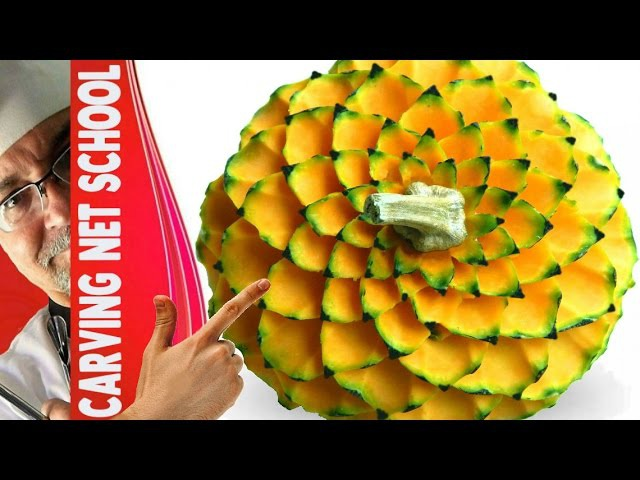 ██ Lesson 45, Carving, fruit veg carving, escultura em frutas, tallado en frutas