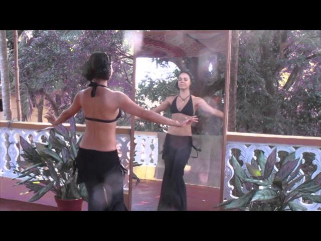 Видео уроки с Катей Jiva sacret tribe Урок 6 Базовые шаги Бедра маятник тряска