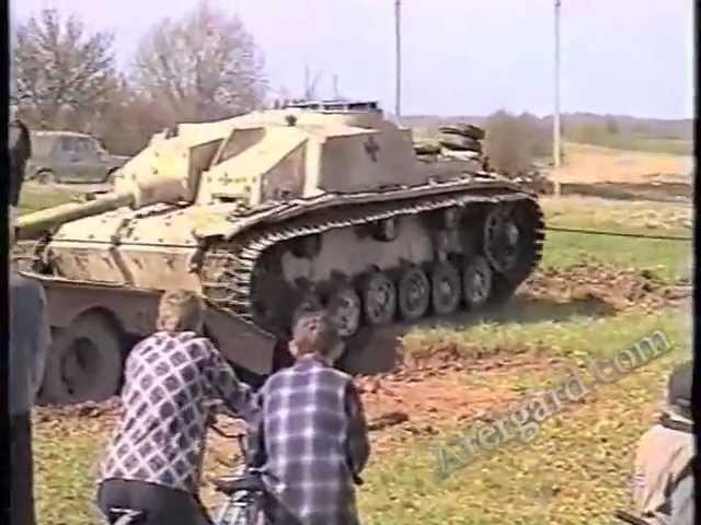 Подъем немецкой САУ StuG-40