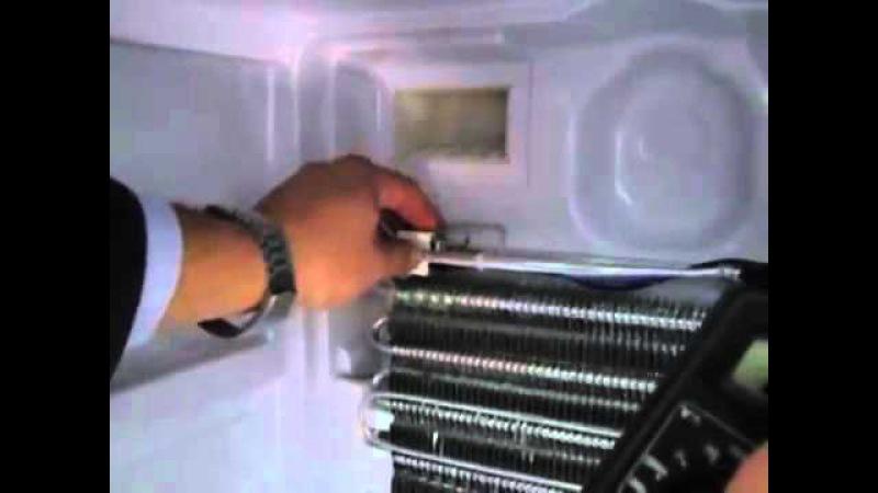 Замена модуля оттайки на холодильнике индезит