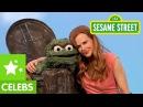 Sesame Street Nicole Kidman and Oscar the Grouch Stubborn