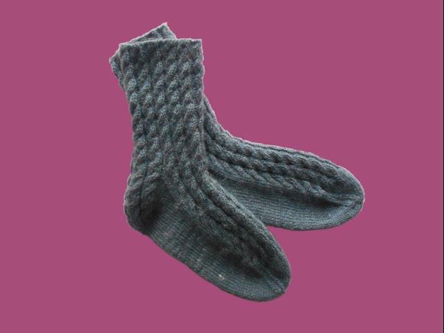 Носки с косой пяткой. Часть I - Socks with oblique heel. Part I