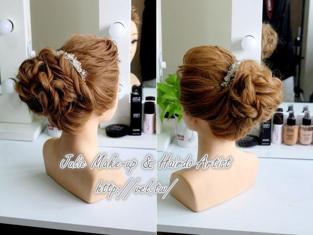 超人氣新娘髮型!蓬鬆奢華高盤髮教學 讓你最優雅!Bridal high updo