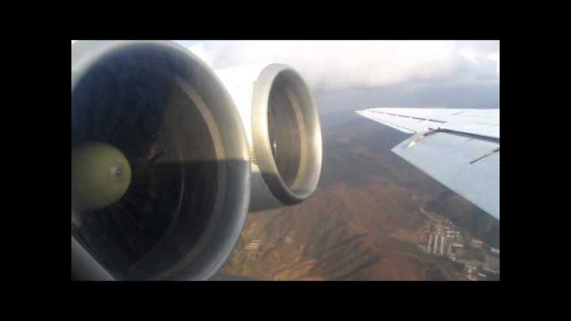 Air Koryo IL-62M P-881 Approach Landing into Pyongyang, North Korea - Window View
